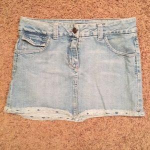 ARDEN B Mini Jean Skirt